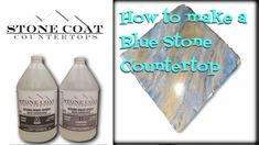 How to make  Blue Stone counter top color training