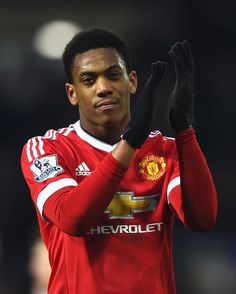 Anthony Martial after a Premiere League match between Manchester United and West Bromwich Albion on March 6, 2016...