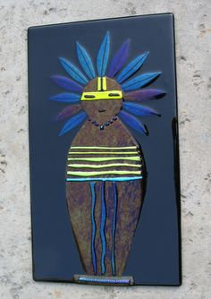 Kachina Sculptural Panel In Fused Glass by AlteredElementsGlass, $380.00