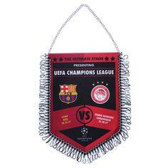 17-18 UCL Olympiacos vs Barcelona Flag