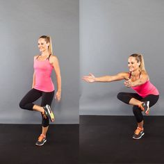 SHAPE MAG's 12 Ways to Spice Up Your Squats for Better Results /  My top 6 choices (given my knee issues):  Single-leg, split w/foot back on bench, plie w/calf raise, static, figure-four, and chair pose.