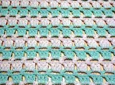 Block Stitch Baby Blanket By Kathy North - Free Crochet Pattern - (piece-by-piece)