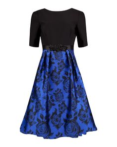 Midnight Rose Jacquard Dress Image 0