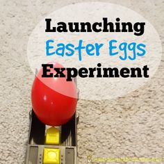 Our Launching Easter Eggs Experiment is a fun science experiment using plastic Easter eggs that practices counting, measuring, and more.