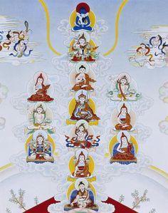 Longchen Nyinthig Lineage Tree Painting - Longchen Nyinthig Lineage Tree Detail by Suzy Greanias Tibetan Art, Tibetan Buddhism, Buddha Buddhism, Buddhist Meditation, Buddhist Art, Vajrayana Buddhism, Buddha Life, Detailed Paintings, Thai Art