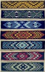 taniko patterns ~ traditional maori, new zealand Flax Weaving, Inkle Weaving, Navajo Weaving, Basket Weaving, Hand Weaving, Maori Patterns, Peyote Patterns, Weaving Patterns, Cross Stitch Patterns
