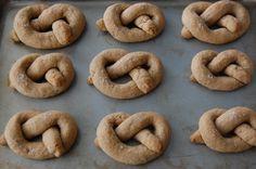 Peanut Butter Dog Pretzels ( I would use gluten free flour or oatmeal flour )