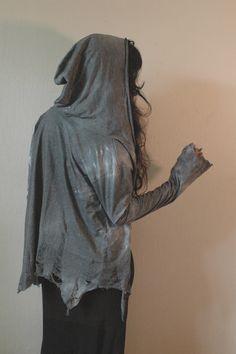 Distressed Grey Hoodie by raintower on Etsy, $72.00