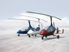 Red, White, & Blue Calidus Autogyros in celebration of the 4th of July.             (photograph source: Autogyro USA Facebook page - http://www.facebook.com/pages/AutoGyro-USA/146423658764714 )