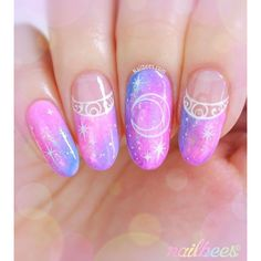 Sailor Moon Nail Art ❤ liked on Polyvore featuring beauty products, nail care and nail treatments