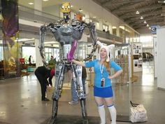 Fiona and Terminator Jacke, Adventure Time cosplay