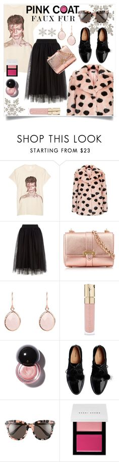 """""""Pink coat"""" by wuteringheights ❤ liked on Polyvore featuring MadeWorn, Topshop, Aspinal of London, Smith & Cult, Gentle Monster and Bobbi Brown Cosmetics"""