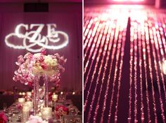 Posy, The Finer Things Events, red gallery photo, Cara + Erik   HIlton Downtown Columbus, wedding, purple, bling, orchid centerpiece