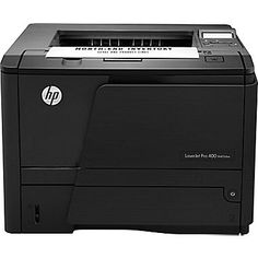 HP® LaserJet Pro M401DNE Monochrome Laser Printer with AirPrint and Duplex