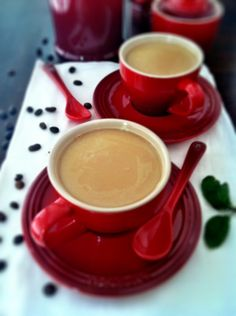 Red coffee cups