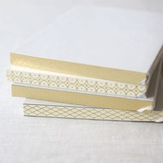 A6 Pocket Notebooks with Gold Leaf Press