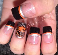 With Hockey absent from our lives, I needed to support another local team. I am not a fan of football whatsoever, I have on occasion receiv. Toenails, Gel Nails, Nail Polish, Lion Nails, Sport Nails, Innovative Ideas, Toe Nail Designs, Fabulous Nails, Mani Pedi
