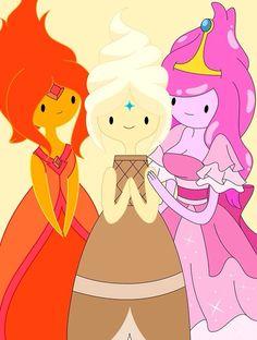 Middle one is frozen yogurt princess