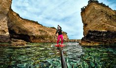 Paddling the azure waters of Otranto, in the south of Italy. Photo by Guifo Soulboarder.