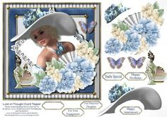 Lost in Thought Card Topper 1 by Mary Jane Harris The perfect card for celebrating so many of life's special occasions!