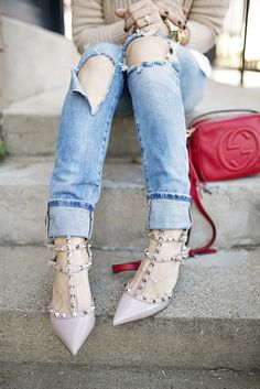 Valentino Pumps & Boyfriend Jeans | Chronicles of Frivolity