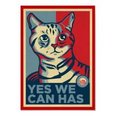 Yes We Can Has LOLCAT Print from Zazzle.com