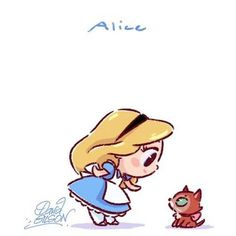 Chibi Alice- Alice in Wonderland, 1951 Kawaii Disney, Chibi Disney, Kawaii Anime, Disney E Dreamworks, Disney Films, Disney Cartoons, Disney Pixar, Disney Characters, Disney Posters