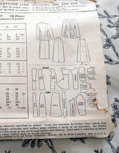 McCalls Pattern/6777/Size 18/1946/2 Piece di CedarCloset su Etsy