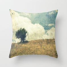 by jwp: Monday's Cushion • 'Lonely Tree' • by ioanna papanikolaou [by-jwp] on society6