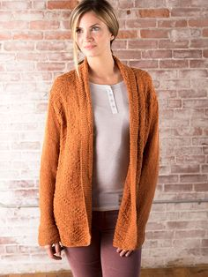 """Sun Prairie Cardigan Free Knitting Pattern  Sun Prairie is a relaxed fit cardigan with a shawl collar. It's loaded with  texture and featuring Berroco Maya yarn.  Skill level: Intermediate  Sizes: XS (S, M, L, 1X, 2X, 3X),To Fit Bust Sizes: 30  (34,38,42,46,50,54) ̋  Completed Chest Measurements: 34 (38, 42, 46, 50, 54, 58)"""" Note: This  garment was designed with approximately 4 ̋ of ease. Please take this into  consideration when selecting your size.  You will need:      * 10…"""
