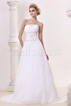 Beautiful A-line/Princess Strapless Chapel  Dasha's Bridal Gown