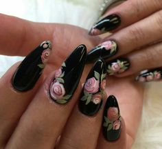 Black with Flowers