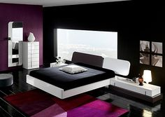 A recent study says that people with purple bedrooms have the most sex. I'm loving this deep, rich, purple accent wall. Hmm...