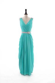 Sexy V-neck chiffon floor-length dress (discount price) like the lines