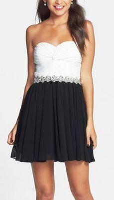 Black & white party dress. SO cute!