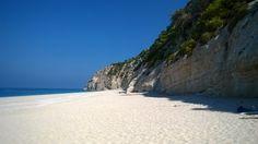 The vast beach of Egremni Exotic Beaches, Greek Islands, More Photos, Greece, Destinations, Water, Outdoor, Beautiful, Greek Isles