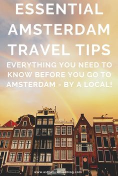 100 Essential Amsterdam Travel Tips - Everything you need to know before you do some Amsterdam travel. Written by a local resident these Amsterdam travel tips will help you plan your Amsterdam travel, find out all the best things to do in Amsterdam and also find great Amsterdam accommodation for your visit. Amsterdam Travel, Need To Know, Everything, Travel Tips, Things To Do, Essentials, Writing, How To Plan, Things To Make