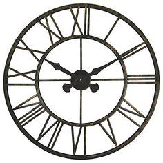 Buy Brookpace Large Skeleton Metal Outdoor Clock, Dia.70cm Online at johnlewis.com