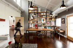 Home office office room ideas creative small office inspirational workspace inspirationfeed 20 minimal home office design Design Loft, Home Office Design, House Design, Office Designs, Design Design, Casa Hipster, Sweet Home, Minimalist Office, Minimal Home