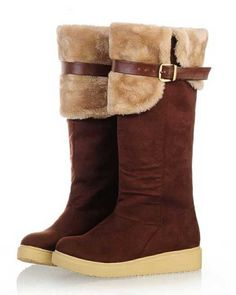 c62d0151b060 Women s Plush Over the Knee High Heel Winter Boots Large Size 34-43 Knee  High