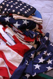 Vintage American flags @ Loopy Mango