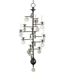 Currey & Company Sethos 12 Light Chandelier in Old Iron/Recycled Glass 9125 #lightingnewyork #lny #lighting site says can make an offer