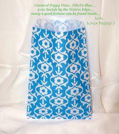 24 CaRnIvAl Blue Poppy Vine Favor Bags Treat by LolaLovesAparty