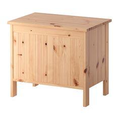 IKEA - SILVERÅN, Säilytyspenkki, vaaleanruskea, , Massiivimännyn pinnassa näkyvät kauniisti puun luonnollinen kuvio ja oksankohdat. Ne tekevät jokaisesta kalusteesta yksilöllisen.Sisällä reilusti säilytystilaa pyyhkeiden ja muiden kylpyhuoneessa tarvittavien tavaroiden säilyttämiseen.Hyvä ratkaisu pieneen tilaan.