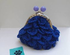 Crocodile Stitch, Blue Flowers, Bag Making, Coin Purse, Creations, Sewing, Totes, Purse, Bags