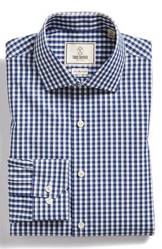 Men's Todd Snyder White Label Trim Fit Check Dress Shirt