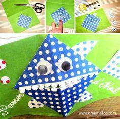 ☼ ✄ DIY Carte Pop-Up Poisson d'Avril / DIY April Pop-Up Fool Fish Card ✄ ☼