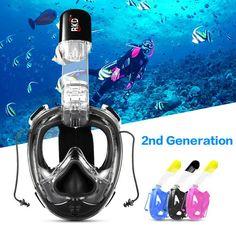 2019Scuba Diving Mask Full Face Snorkel Kids Children Anti Fog Swimming Training