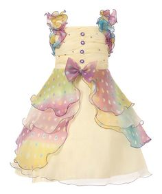 Another great find on #zulily! Purple Tiered Pastel Ruffle Dress - Girls by Richie House #zulilyfinds