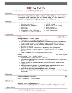 Welder Resume 1000 Images About Unique Resume Syles On Pinterest  Resume